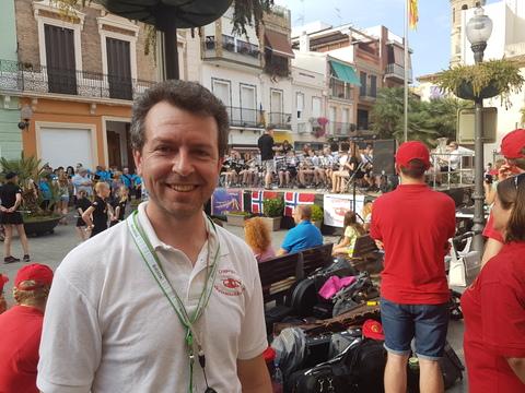 Sommertur under spansk sol: Herman Søvik fra Oppegård er alltid på plass når noe må ordnes.