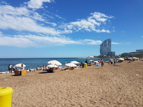 Spania del 2: Flott strand midt i Barcelona by