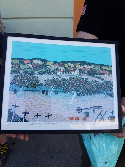 Spania del 2: Jan Baker kunst var vår gave til Calella kommune