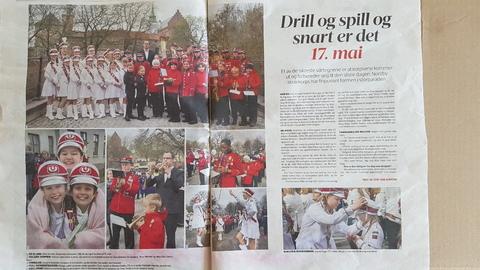 Flott omtale av Nordby skolekorps i ØB: Fine bilder og flott omtale