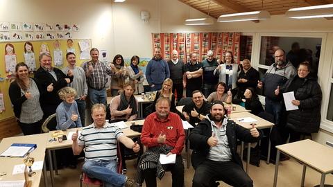 Årsmøte 2018: Åsrmøtedeltagere som også er klare for å trå til for at jubileumsparaden i Oslo skal bli vellykket