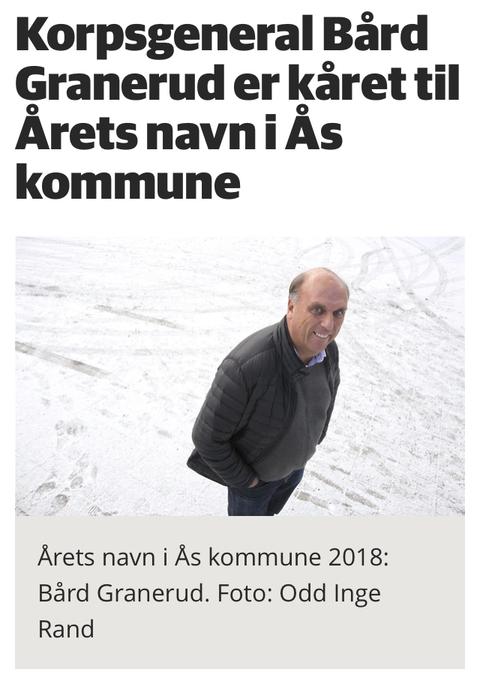 Bård Granerud kåret til Årets navn i Ås: En verdig vinner