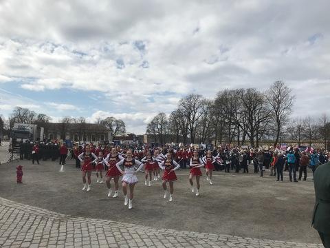 Flott og vellykket Jubileumsparade i Oslo: Det var flere oppvisninger før avgang gardenpå paraden. Her er en av dem drilltroppen Pikegarden