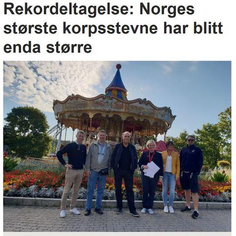 Ås avis med artikkel om Tusenfrydstevnet: Faksimile fra Ås avis