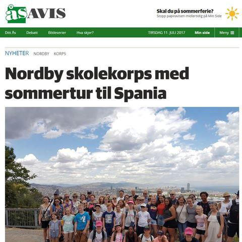 Spania-turen omtalt i ØB og Ås Avis