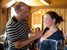 Bilder fra Slora 27-28/8: Nina får sin medalje og vi ønsker deg lykke til videre på Kløfta.