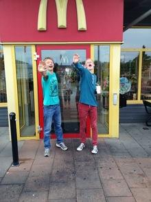 Vi inntok Gøteborg: McDonalds ble løsningen på fredag når alt annet var stengt.