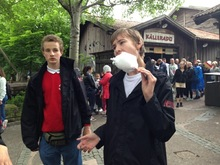 Vi inntok Gøteborg: Det ser ut som om Tor Kristian også ville hatt sukkerspinn....